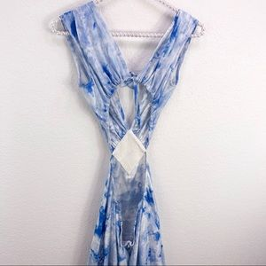 Free People Dresses - Lindsey Thornburg x Free People Blue Tie Dye Maxi
